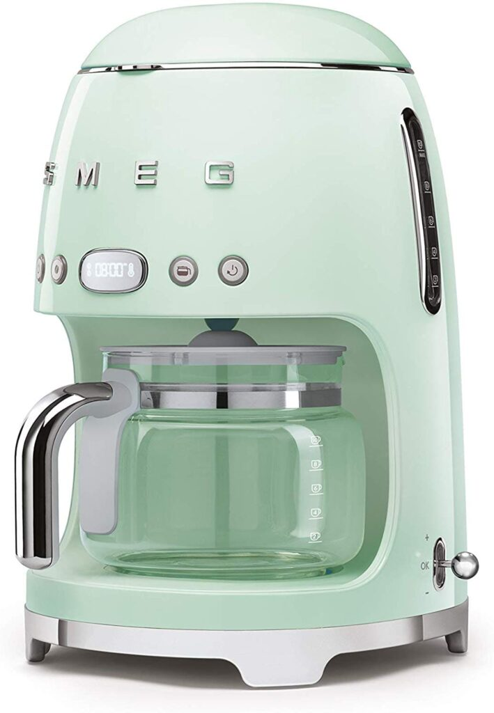 Retro Coffee Makers 50's #Retro Style Aesthetic Drip Filter #Coffee Machine, 10 cups, Pastel Green #vintage #decor