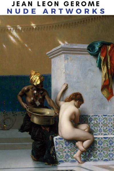 Jean Leon Gerome Nude Artworks Poster - Slave Nude