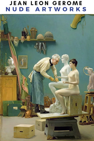 Jean Leon Gerome Nude Painting Poster -  Atelier