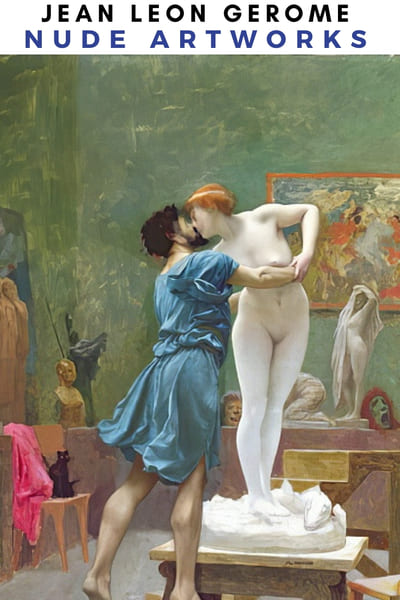 Jean Leon Gerome Naked Artworks Poster -  Atelier Nude
