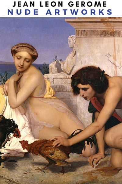 Jean Leon Gerome Nude Artwork - Young Greeks Attending a Cock Fight