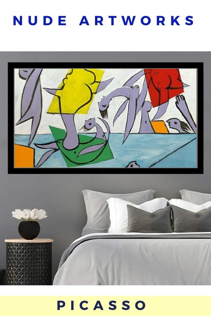 Picasso Nude Artworks Poster Decor - Le Sauvetage 1932