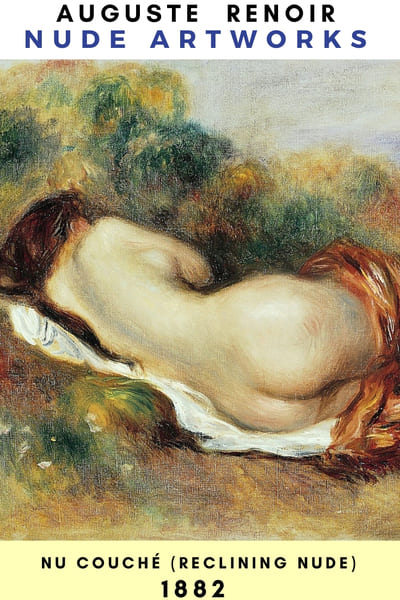 Auguste Renoir Artworks - NU Couche #painting #Reonir #art #paint
