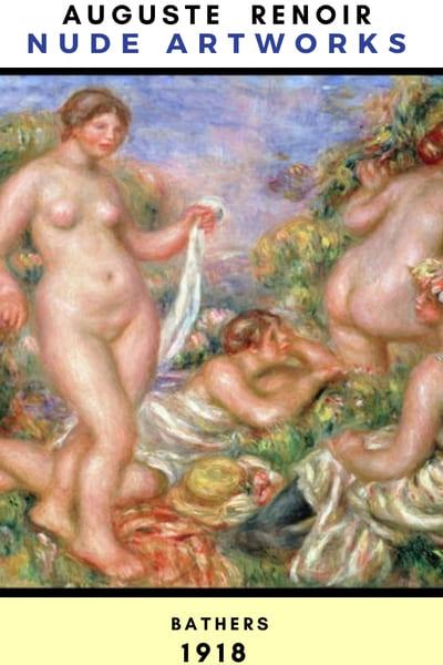 Auguste Renoir Artworks - Bathers 1918 #painting #Reonir #art #paint