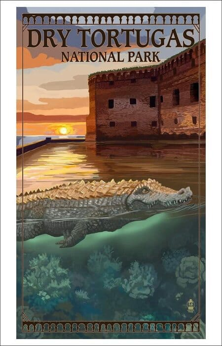 National Park Poster Decor - Dry Tortugas