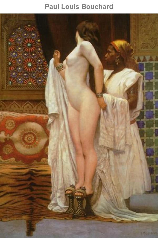 """Louis Bouchard Nude Artworks - """"Apres le Bain"""" (c. 1894)"""