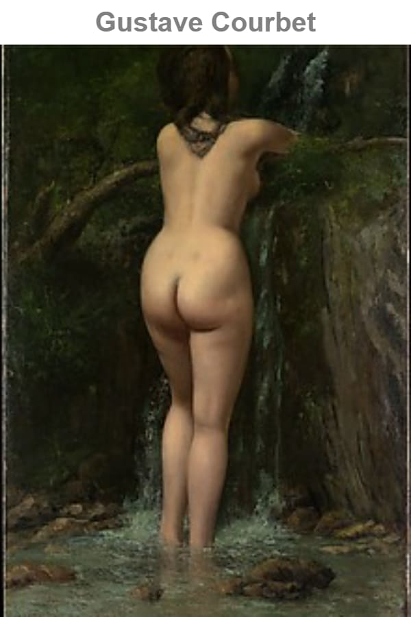 Gustave Courbet was born in Ornans in 1819 and moved to Paris at the age of twenty to study law, but nevertheless devoted himself to painting