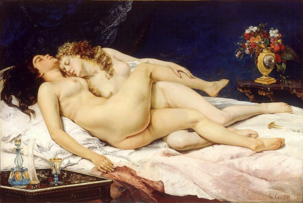 Gustave Courbet Artworks & Paints - The Nap