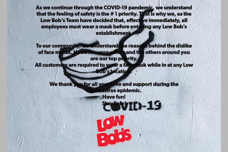 LB Masks Notice