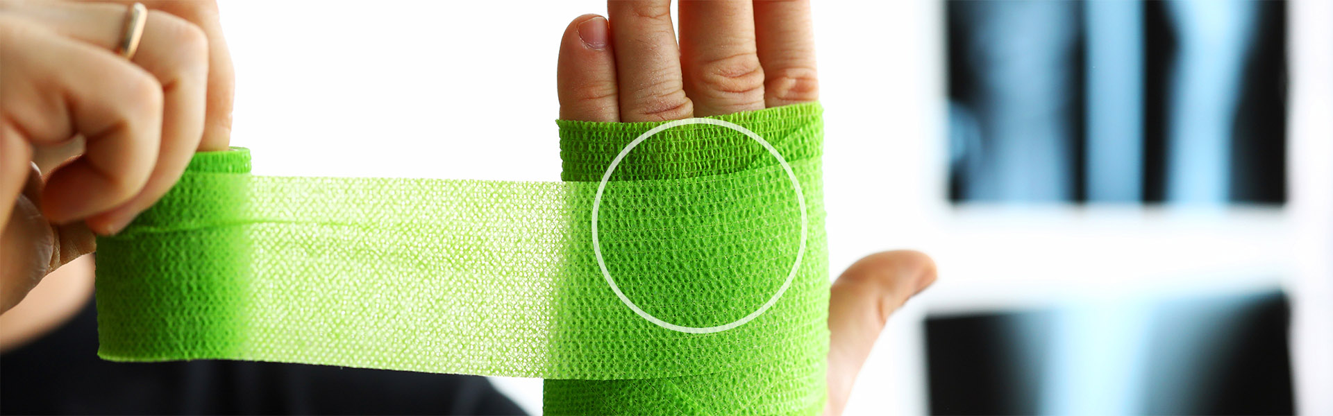 Treatment for wrist, hand, and finger fractures and sprains.