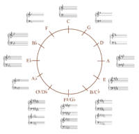 Circle of Fifths Grand Staff