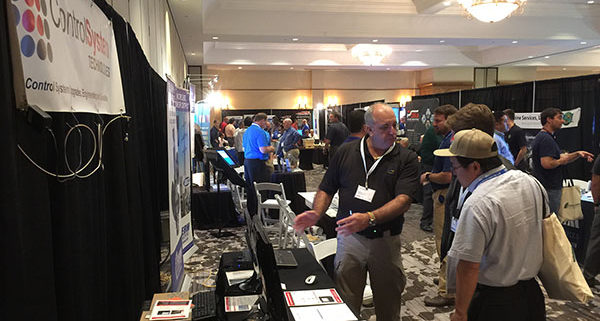 Ron Walker at the GE7EA Users Group booth