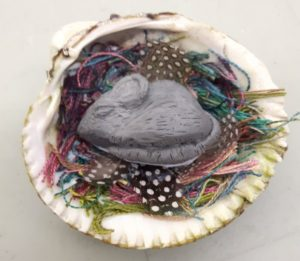 Sleeping mouse - with Heather Caruso at Art Therapy Guelph in Ontario.