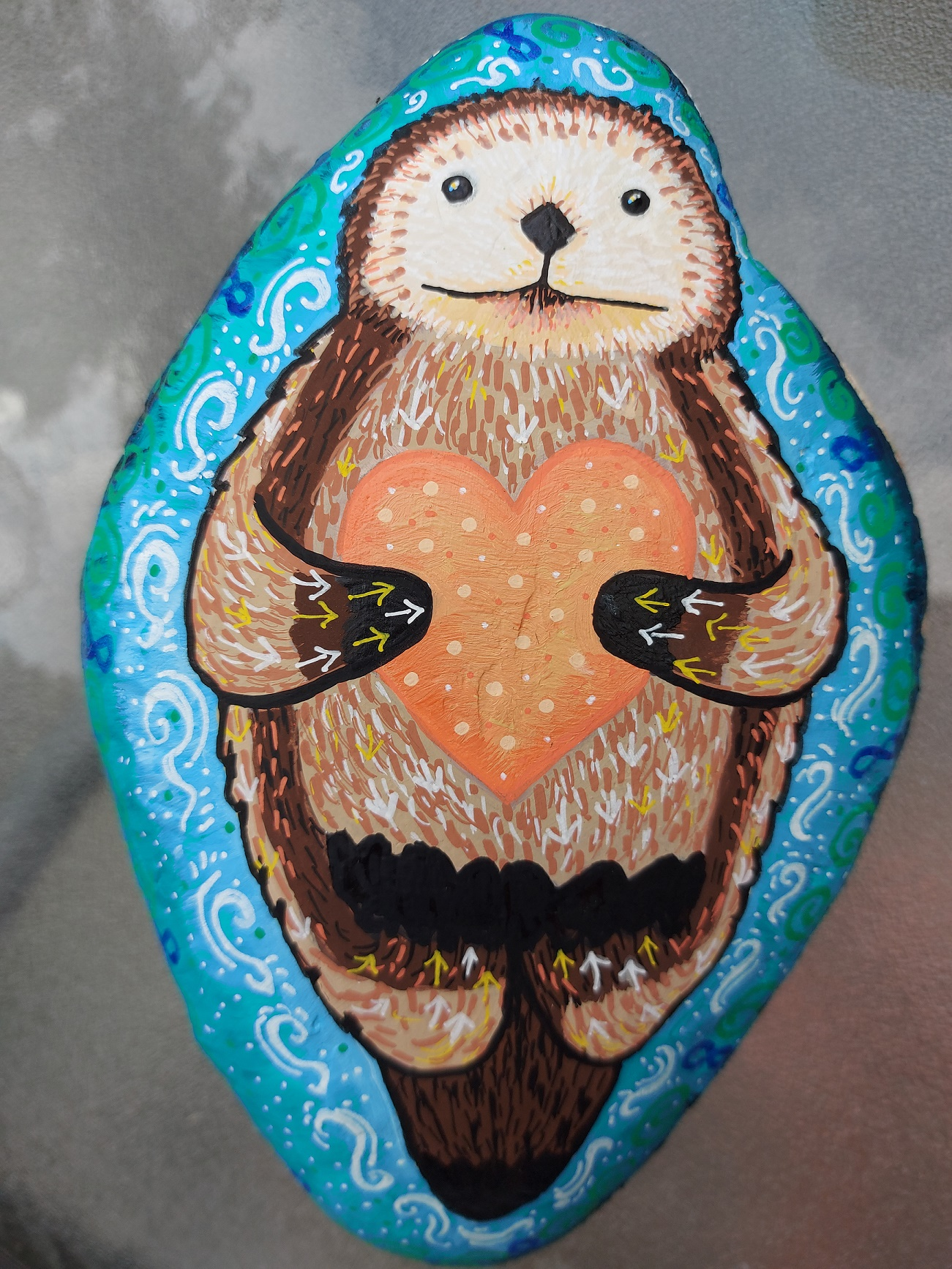 Otter self love - with Heather Caruso at Art Therapy Guelph in Ontario.