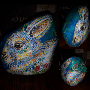 Art Therapy Guelph Painted Rabbit Rock