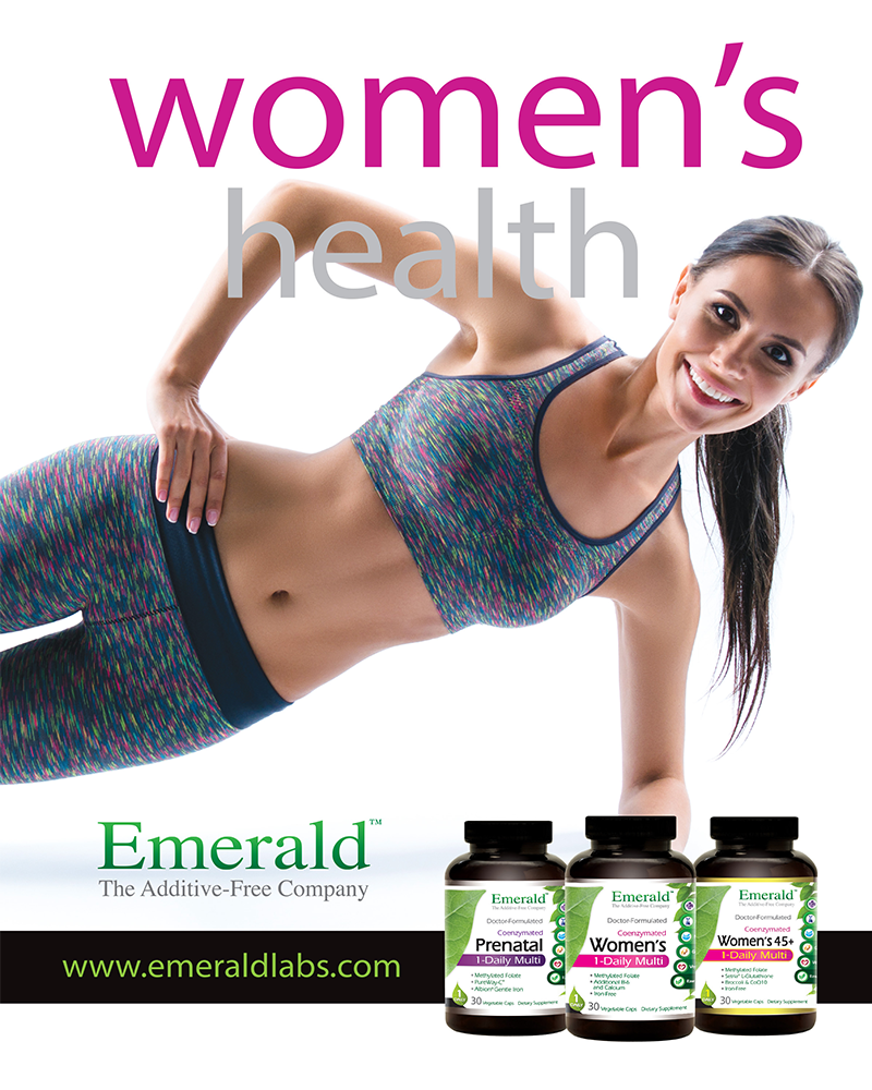 Emerald Labs Women's Health Ad 800x1000