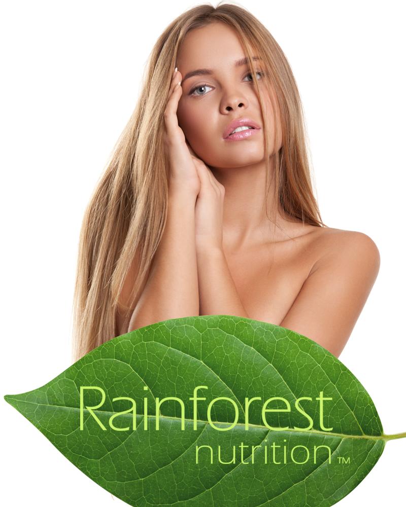 Rainforest Nutrition Leaf-Woman Banner 800x1000