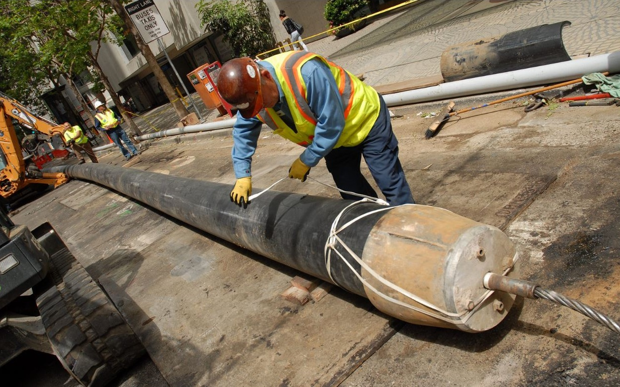 pipe bursting project in the bay area