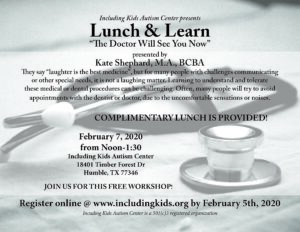 The Doctor Will See You Now - Lunch & Learn @ Including Kids Autism Center