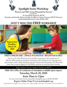 Parents and ABA: Great Potential for Success! @ Including Kids Autism Center