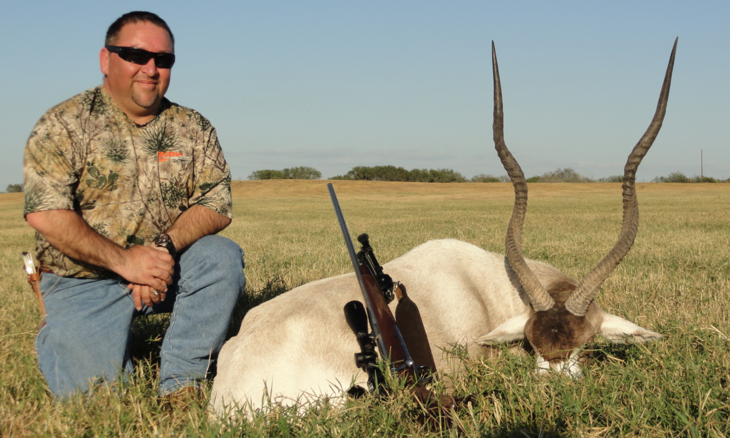 Addax Hunting in Texas