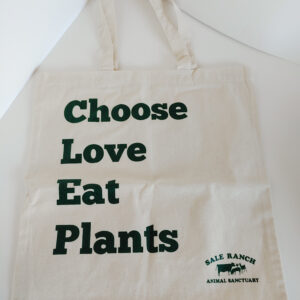 Choose Love Eat Plants Cotton Bag