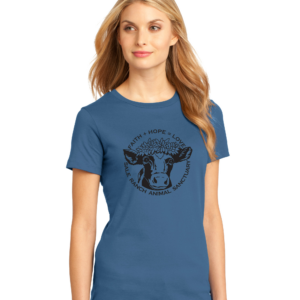 Women's Tee Shirt Maritime Blue Color