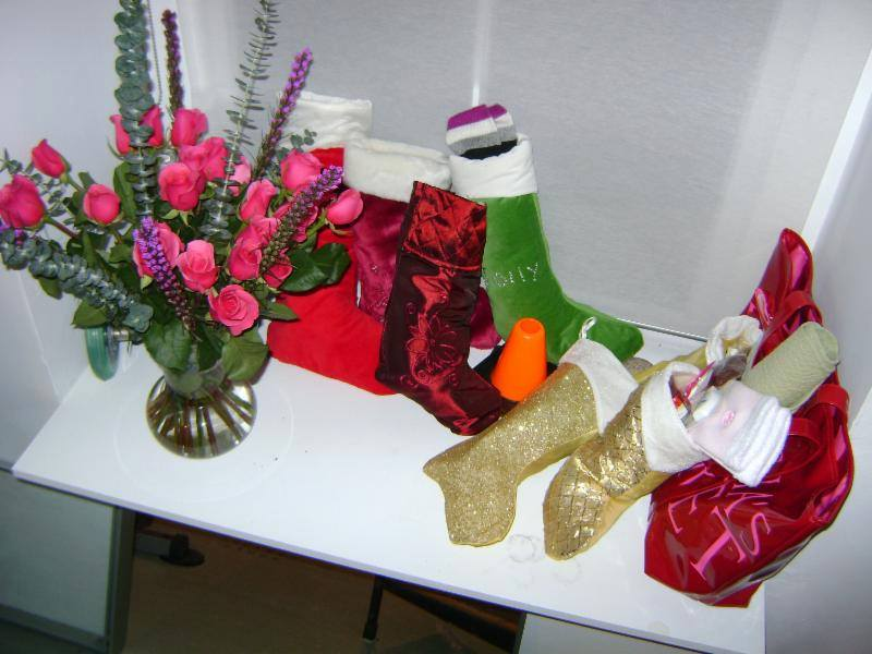 Stockings with Flowers