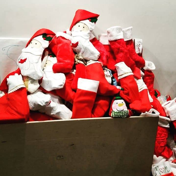 mountain of stockings