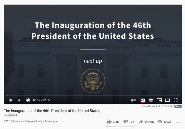 Joe Biden's Inauguration Video Is So Unpopular The Official White House Account Has Unlisted It From YouTube