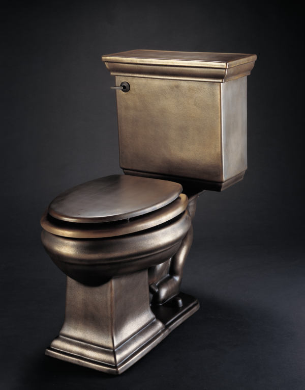 With 100% nano bronze this Bronze toilet elongated is available for you.