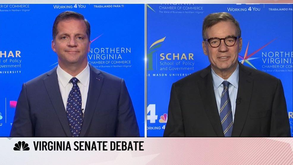 Mark Warner and Daniel Gade met last night for their first U.S. Senate debate