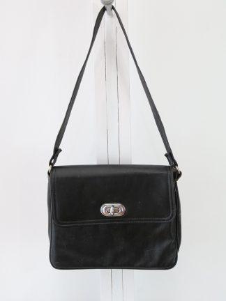 90's Distressed Black Leather Purse