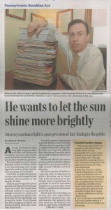 20140512 - Sunshine Act Article - Front page