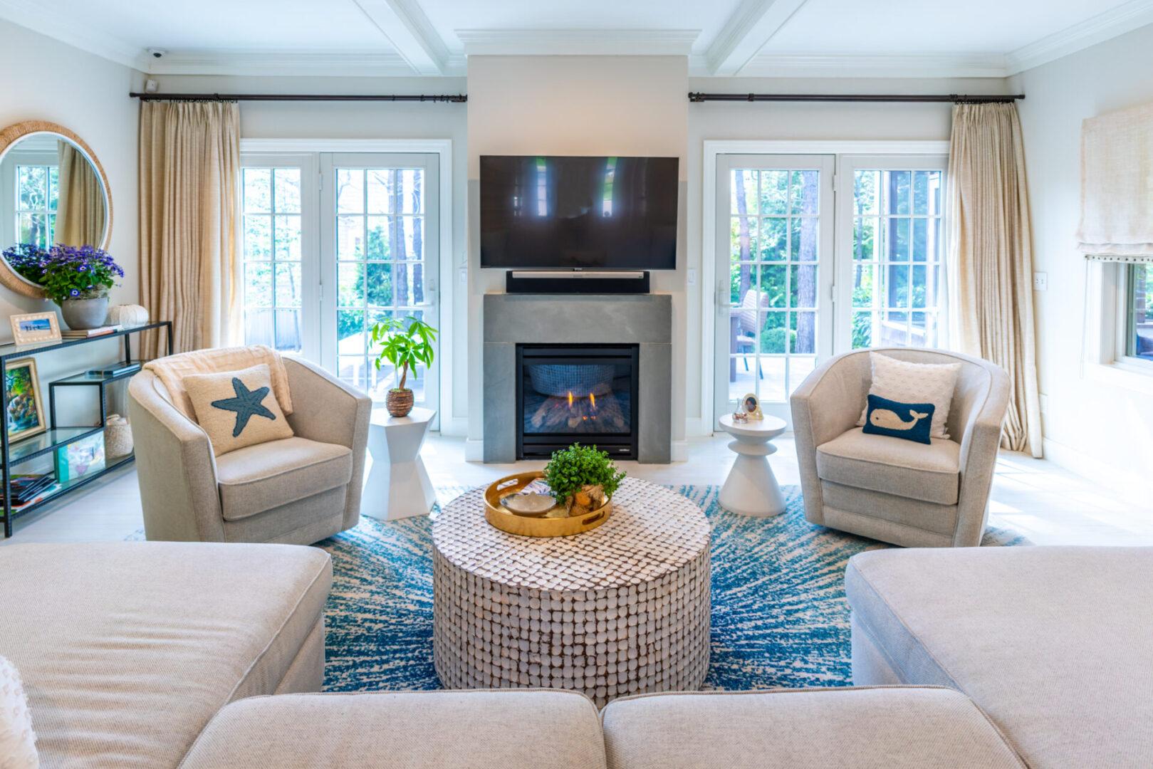 Bluestone fireplace surround