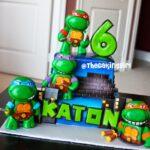 ninja turtles cake kids birthday party