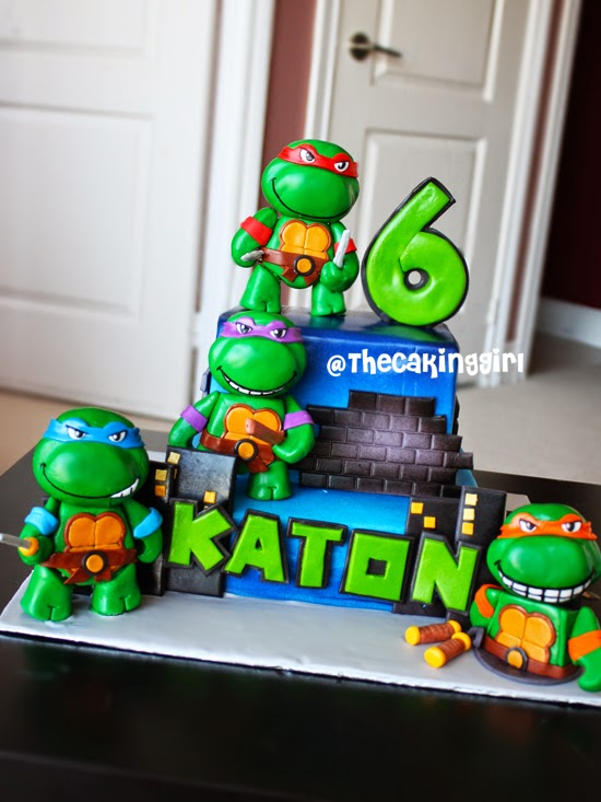 diy ninja turtle cake tutorial HOW TO
