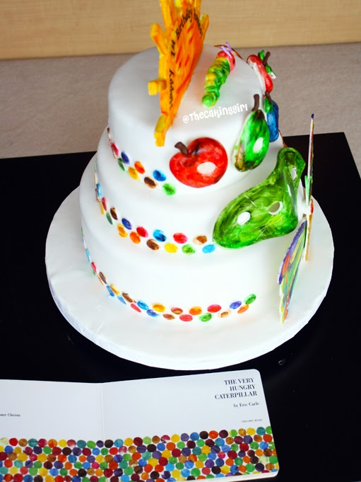 the very hungry caterpillar cake thecakinggirl