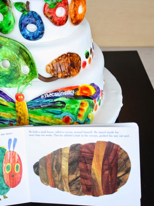 the very hungry caterpillar cake cocoon