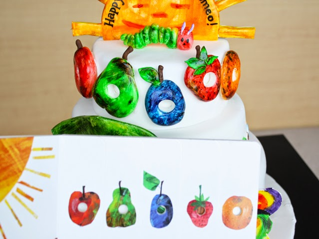 cute hungry caterpillar cake thecakinggirl