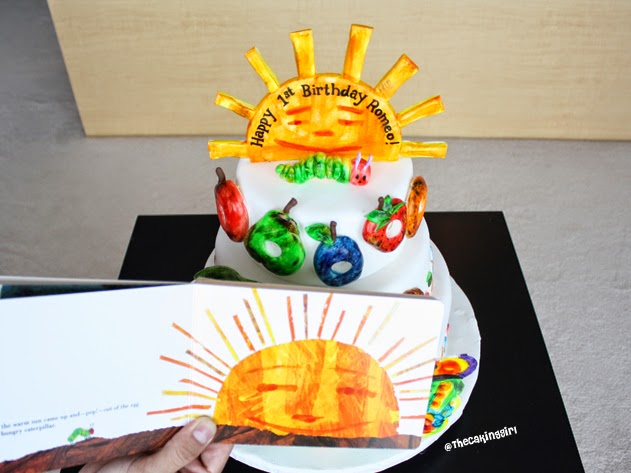 how to make the very hungry caterpillar cake