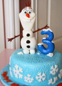 cute simple olaf figurine cake topper cake