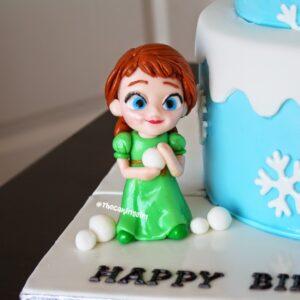 edible frozen anna figurine cake topper how to
