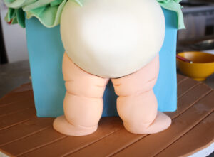 cute baby butt cake tutorial