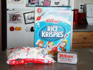 how to make rice krispie treat for cake