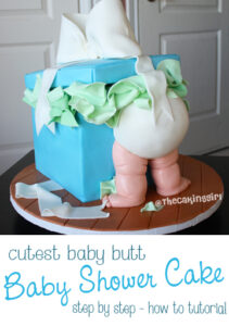 baby butt cake baby shower