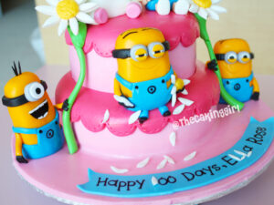 girly despicable me minion cake