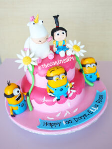 how to make a despicable me cake