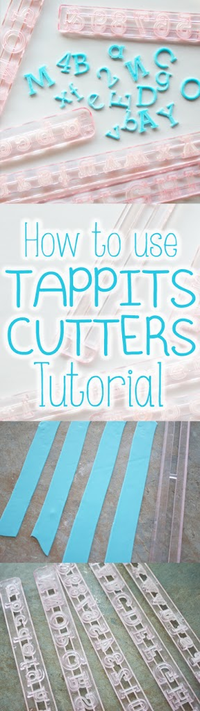 how to get fondant out of tappits cutter tutorial step by step