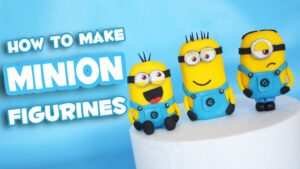 how to make a minion figurine cake topper
